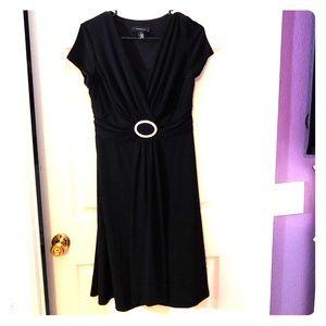 Black dress with rhinestone center